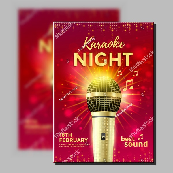 Best Sound Karaoke Poster Example