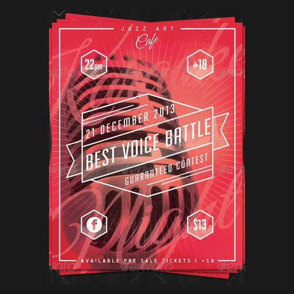 Best Voice Karaoke Poster Example