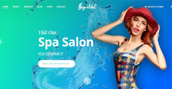 beyoutiful beauty spa salon wordpress theme