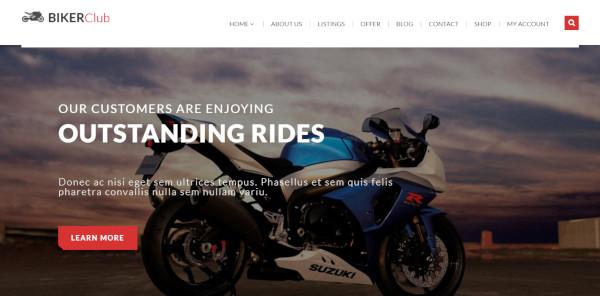 biker club – 600 google fonts wordpress theme