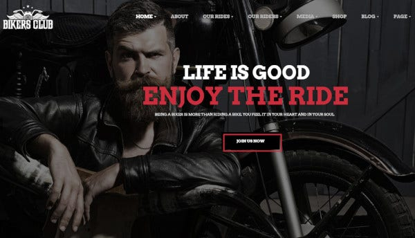 bikersclub-multiple-widgets-wordpress-theme
