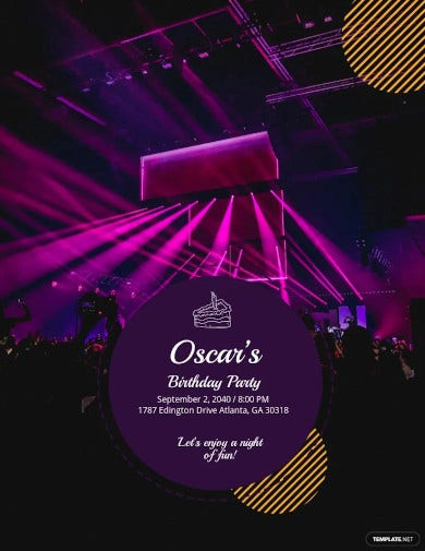 birthday club party flyer example