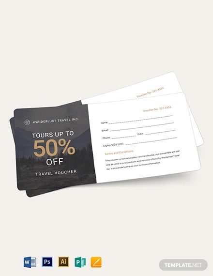 blank travel voucher template1