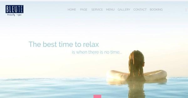 Bleute – Spa WordPress Theme