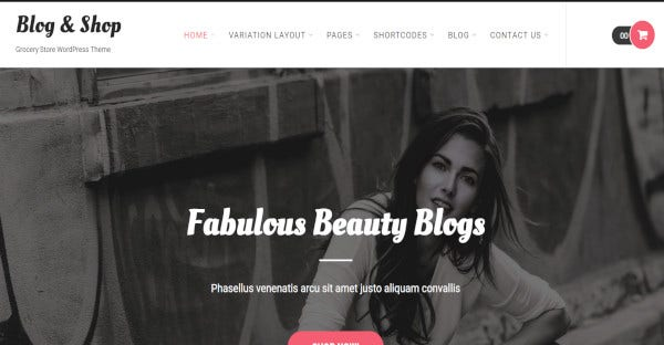 Blog and shop - WooCommerce WordPress Theme