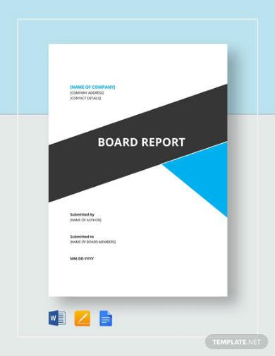 board report 2