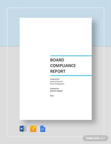 board compliance report