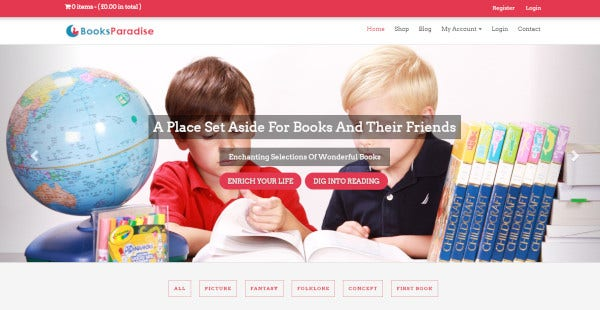 booksparadise-ajax-supported-wordpress-theme