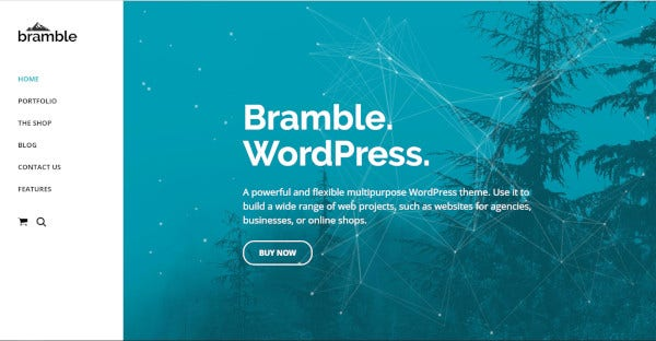 bramble wordpress theme for startup business