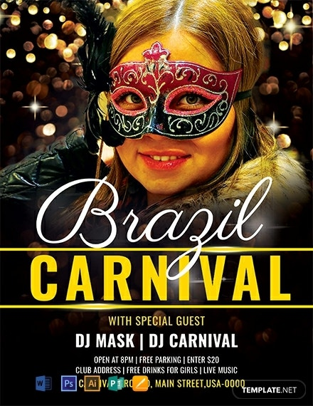 brazilian carnival event flyer example
