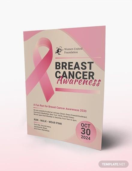 breast cancer awareness flyer sample