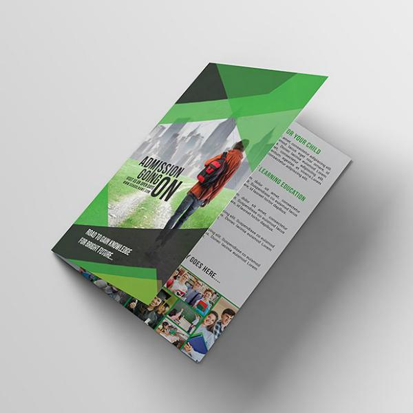 bright future school brochure template