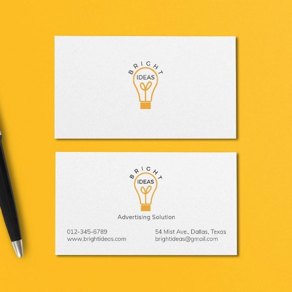 bright ideas minimal business card