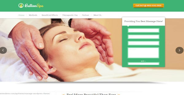 bullion spa massage parlor wordpress theme