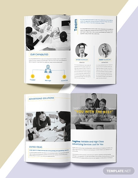 business advertising catalog template