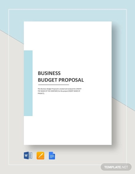 Business Budget Proposal