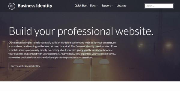 business identity elementor wordpress theme