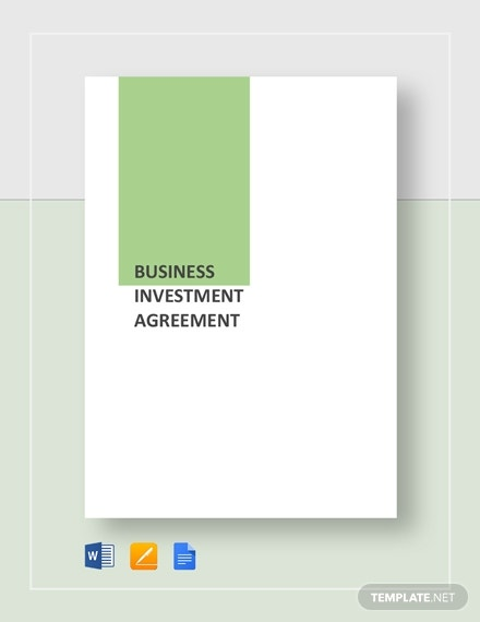 business investment agreement