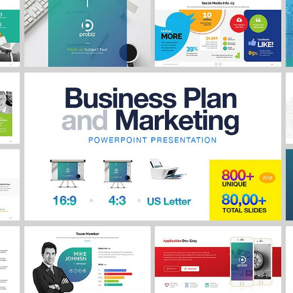 business marketing plan powerpoint layout