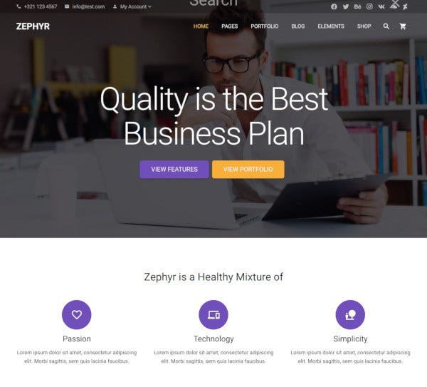 business material design theme
