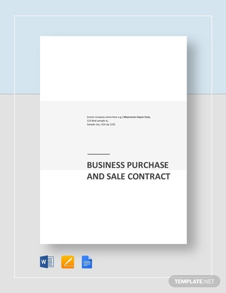 business purchase and sale contract 2