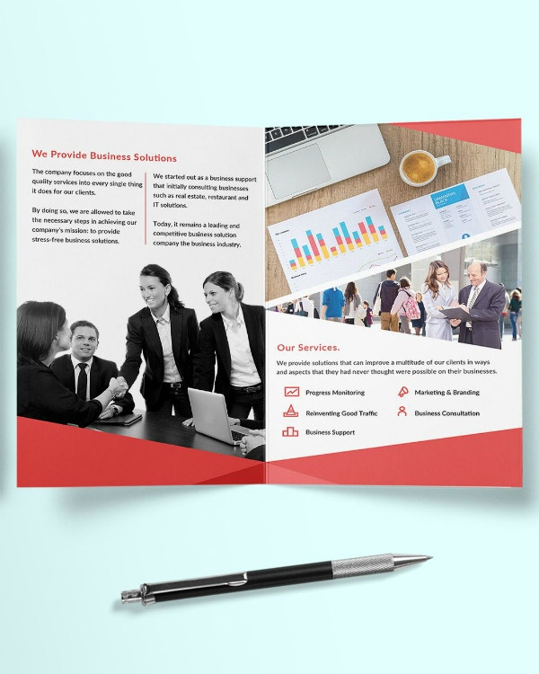business solution providers brochure design