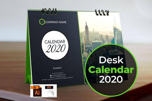 calendar 2020 desk calendar