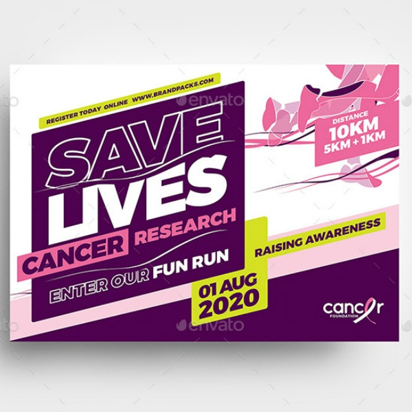 cancer fundraising event flyer sample