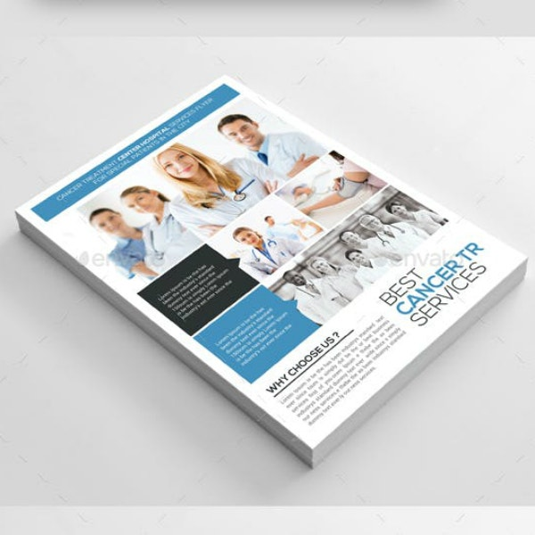 cancer treatment services flyer template