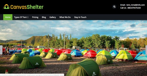 canvasshelter tent rental service providers
