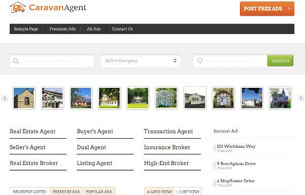 caravan agent multilingual wordpress themes