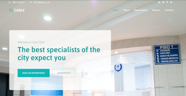 carez a professional wordpress template for medical services 1