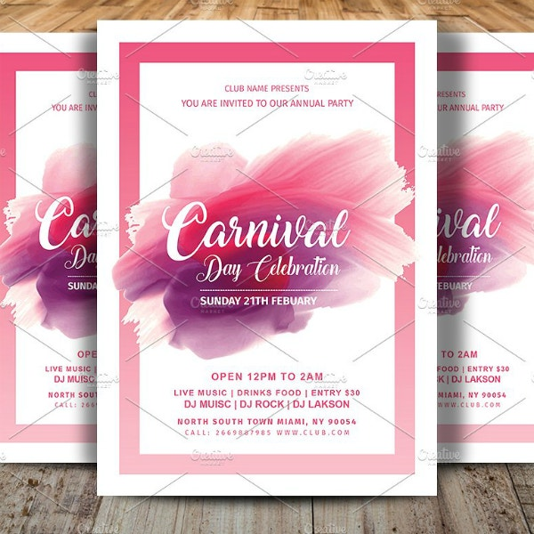 carnival day celebration flyer example