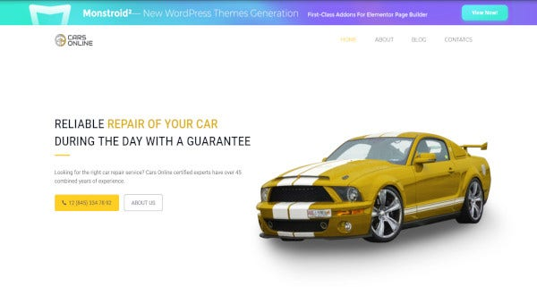 cars online mailchimp ready wordpress theme