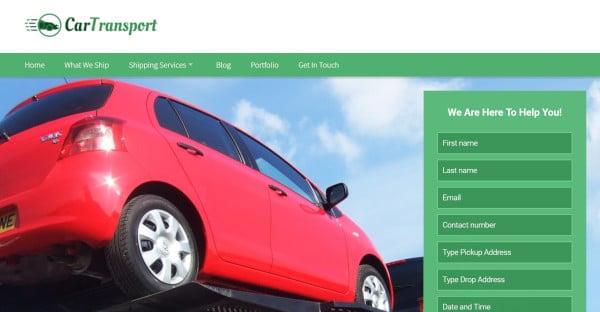 carttransport seo friendly wordpress theme