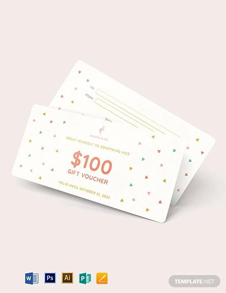 cash gift voucher template