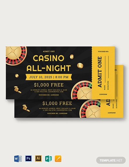 casino ticket voucher template