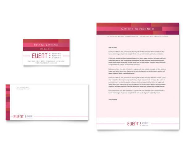 caterer business letterhead design