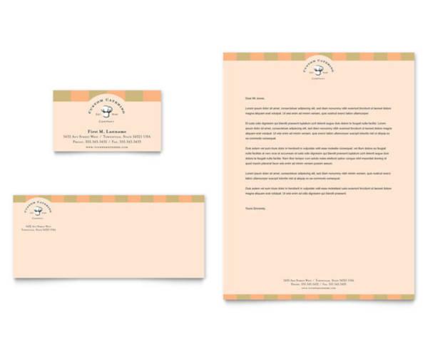 catering company letterhead