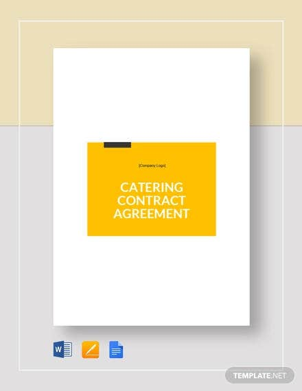 catering contract agreement template
