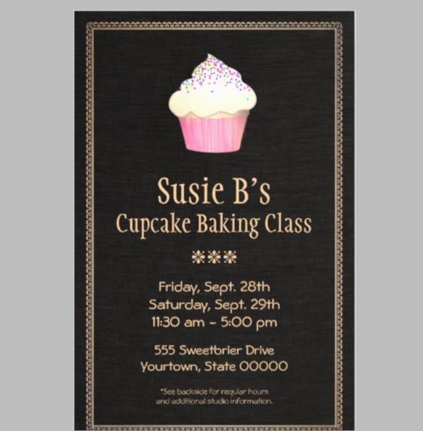 catering cupcake bakery pastry chef flyer