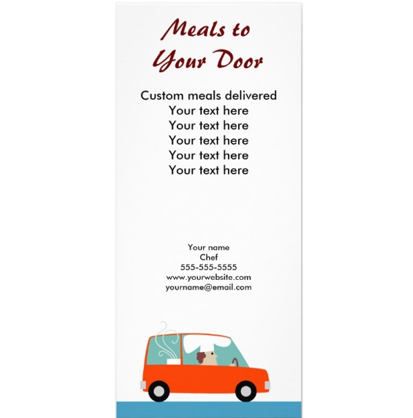catering delivery rack card