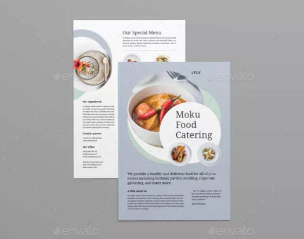 catering food flyer template