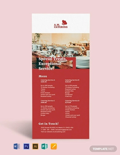 catering rack card template1