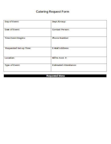 catering request form format