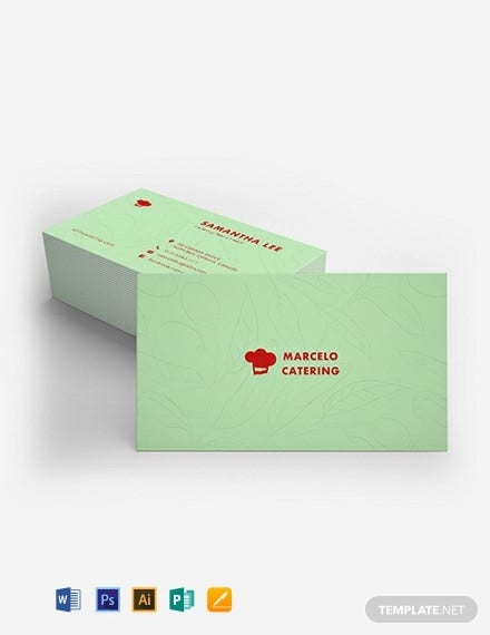 catering service business card template