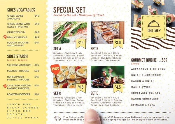 catering service flyer template1