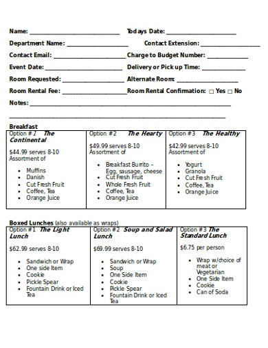 catering service request form1