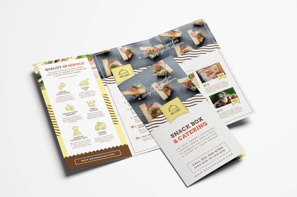 catering service tri fold menu