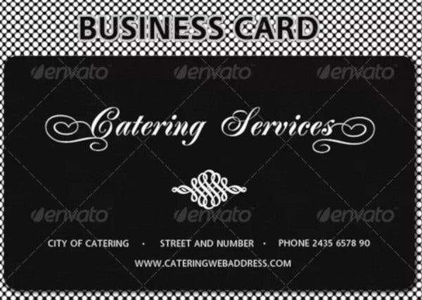 catering services business card template
